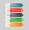 infographic templates for business color flat vector image