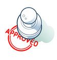 is approved by a stamp concept vector image
