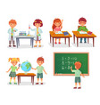 kids on school lesson primary schools pupils on vector image