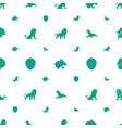lion icons pattern seamless white background vector image vector image