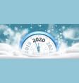 new year winter clock celebration 2020 countdown vector image