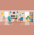 office interior modern office workspace vector image