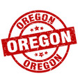 oregon red round grunge stamp vector image