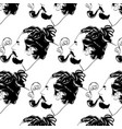 pattern with hand drawn man vector image vector image