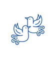 pigeons line icon concept pigeons flat vector image vector image