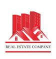 real estate home sales icon vector image vector image