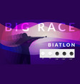 realistic biathlon sport composition vector image vector image