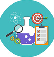 Research concept Flat design Icon in turquoise vector image vector image