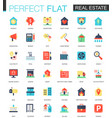 set flat real estate icons vector image vector image