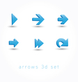 set of icons pointer arrows 3d vector image vector image