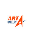 sign for art gallery vector image vector image