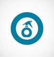 sprayer icon bold blue circle border vector image