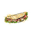 taco mexican fast food traditional tacos from vector image