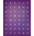 Thin line design tools icons set for web and vector image vector image