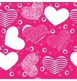 valentine seamless hearts pattern with hearts vector image vector image
