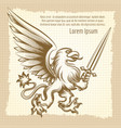 vintage background with heraldic gryphon vector image vector image