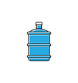 water gallon icon design template isolated vector image vector image