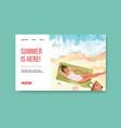 website template design for summer travel vector image vector image