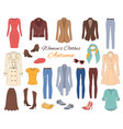 women s clothes collection vector image vector image