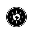 world expansion round glyph icon social community vector image vector image