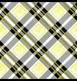 yellow and black watercolor scottish woven tartan vector image