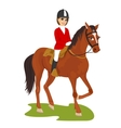 Attractive young woman ridding horse vector image
