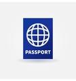 Passport blue sign vector image