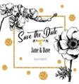 Save the date card template for anniversary vector image