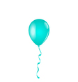 Blue balloon isolated on white background vector image