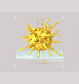 3d composition glass and gold virus in a vector image vector image