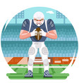 american football rugplayer character aggressive vector image