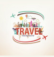 around the world travel background landmarks and vector image