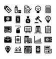 banking and finance line icons 12 vector image vector image