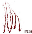 blood drops - criminality and violence - bloody vector image