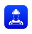 builder icon digital blue vector image vector image