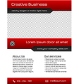 Business multipurpose flyer template - red vector image vector image