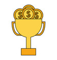 business trophy dollar coins money vector image
