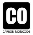 carbon monoxide symbol vector image vector image