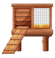 chicken coop made of wood vector image vector image