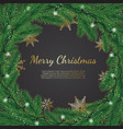 christmas background with fir branches realistic vector image vector image