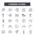 cinema line icons for web and mobile design vector image vector image
