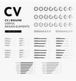 cv resume design elements set - skills icons vector image vector image