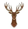 Deer decorative Christmas reindeer vector image vector image