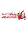 Delivery service banner with call number vector image vector image