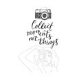 drawing young woman photographer vector image vector image