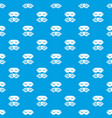 dream pattern seamless blue vector image vector image