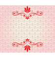Elegant background with ornaments vector image vector image
