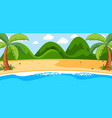 empty scene with beach landscape and mountain vector image vector image