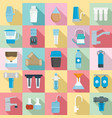 filter water icon set flat style vector image