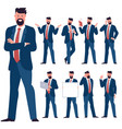 flat design young man characters vector image